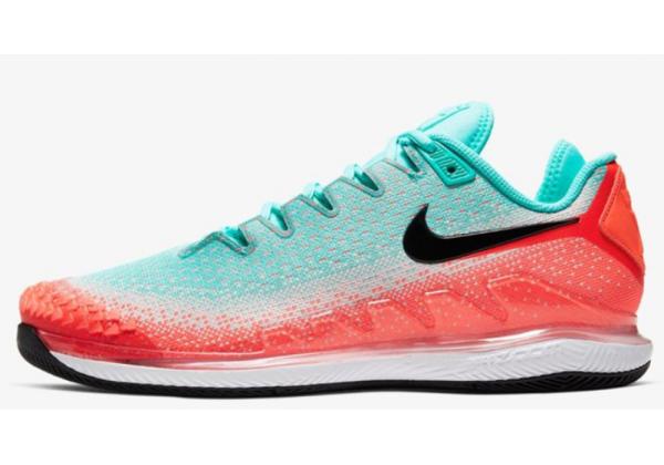 Кроссовки Nike Air Zoom Vapor X Knit красные с зеленым