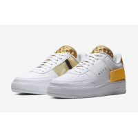 Кроссовки Nike Air Force 1 белые с желтым