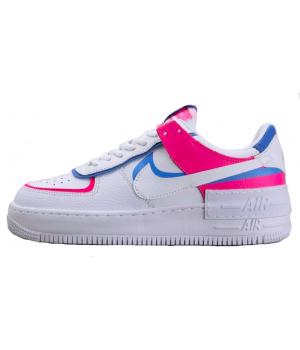 Nike кроссовки женские Air Force розовые с голубым