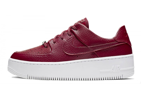 Кроссовки Nike Air Force 1 Low Sage бордовые