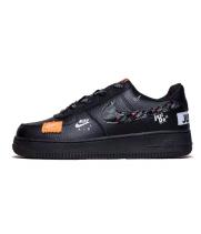 Кроссовки Nike Air Force с надписью черные
