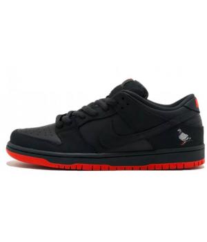 Nike кроссовки Air Force 1 SB Dunk Low Jeff Staple черные