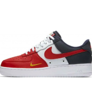 Nike кроссовки Air Force 1 Obsidian White-University Red мульти