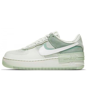 Nike кроссовки Air Force 1 Shadow White Green