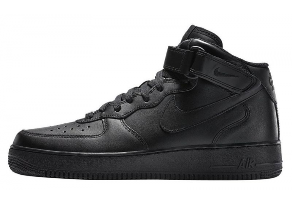 Nike Air Force 1 зимние черные моно