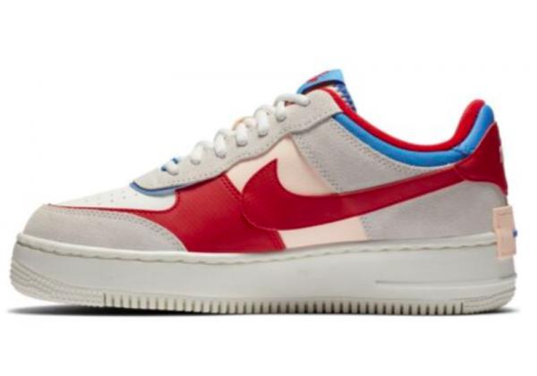 Кроссовки Nike Air Force Shadow серые с красным