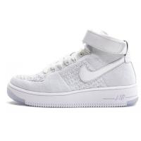 Кроссовки Nike Air Force Ultra Flyknit белые