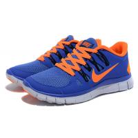 Кроссовки Nike Free Run 3.0 синие с оранжевым