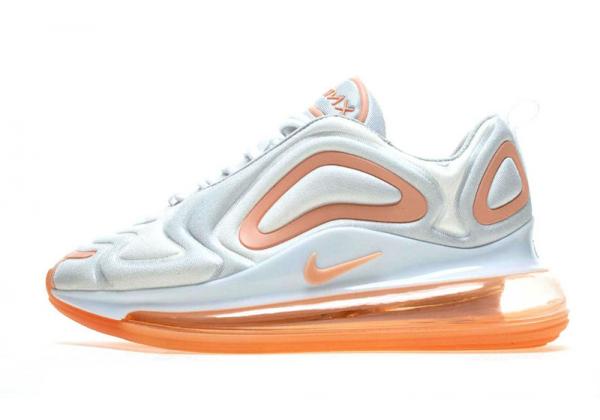 Кроссовки Nike Air Max 720 белые с оранжевым