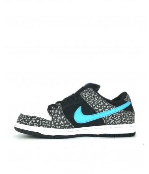 Кроссовки Nike Air Force 1 черно-белые с голубым