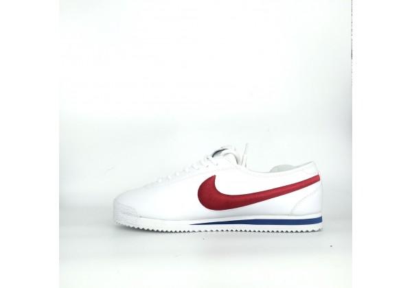 Кроссовки Nike Cortez белые с красным
