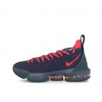 Кроссовки Nike Lebron синие с красным