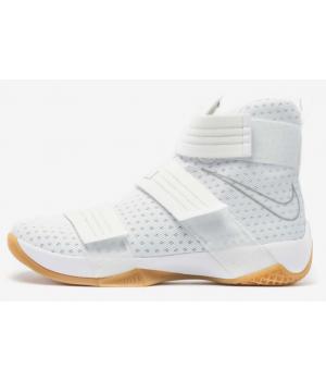 Кроссовки Nike Lebron Soldier 10 белые