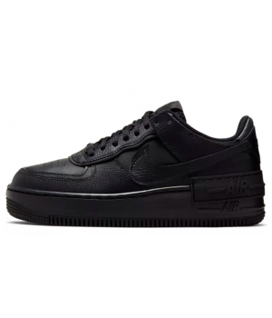 Кроссовки Nike Air Force однотонные кожаные черные мужские