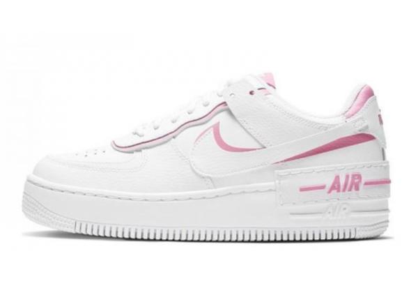 Кроссовки Nike Air Force бело-розовые