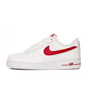 Кроссовки Nike Air Force белые с красным