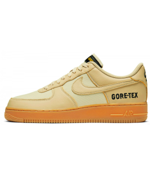 Кроссовки Nike Air Force Gore-Tex бежевые моно