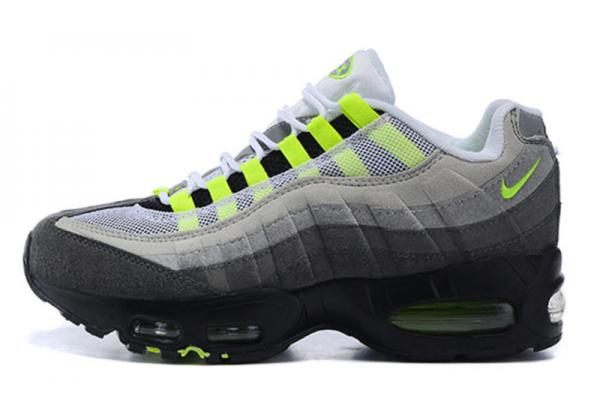 Nike Air Max 95 серые с зеленым