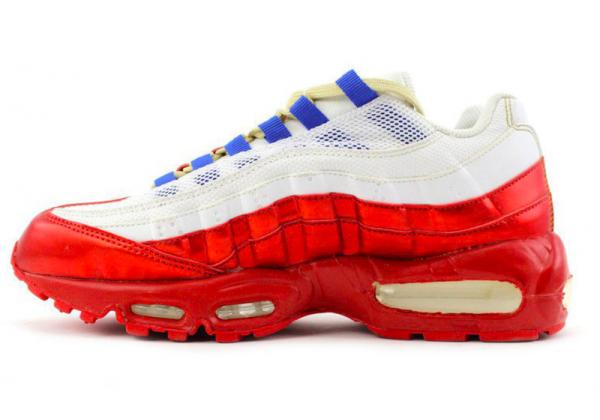 Nike Air Max 95 красные с белым