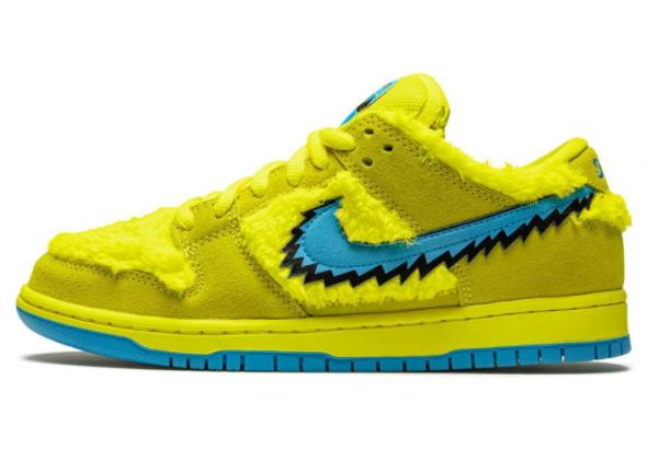 Кроссовки Nike Grateful Dead желтые