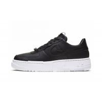 Кроссовки Nike Air Force с высокой подошвой черные