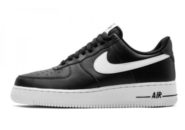 Кроссовки Nike Air Force на высокой платформе черные