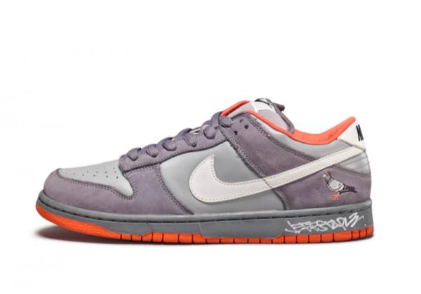 Кроссовки Nike Air Force серые с оранжевым