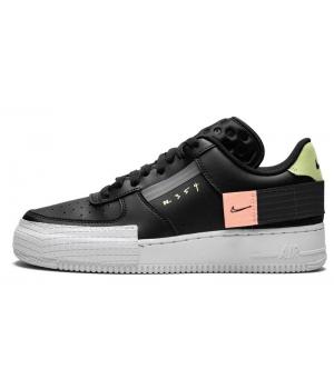 Кроссовки Nike Air Force n 354 черные с белым