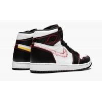 Jordan кроссовки 1 Retro High OG Defiant Yellow черно-белые