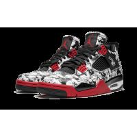 Jordan кроссовки 4 Retro SNGL Dy Tatto черно-белые