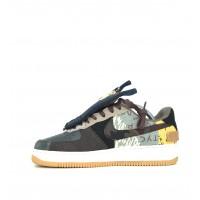 Кроссовки Nike Air Force черно-желтые