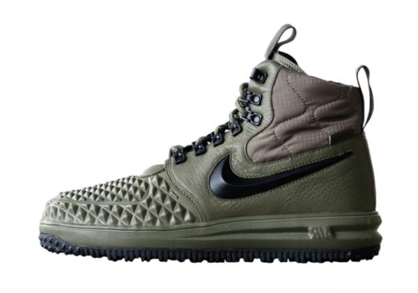 Кроссовки Nike Lunar Force 1 Duckboot '17 зеленые