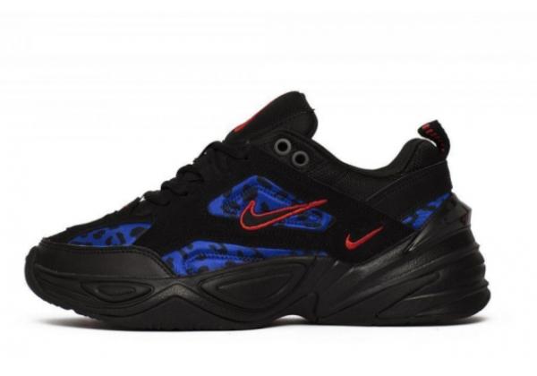 Кроссовки Nike M2k Tekno черные с синим