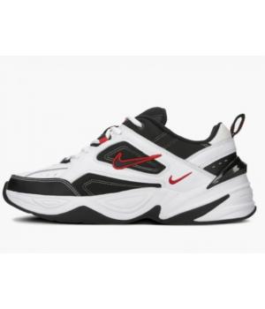 Кроссовки Nike M2k Tekno черно-белые с красным