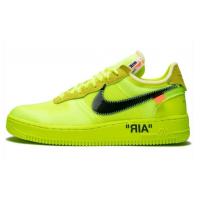 Кроссовки Nike X Off-White зеленые