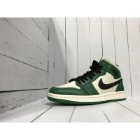 Кроссовки Nike Air Jordan зелено-бежевые