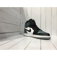 Кроссовки Nike Air Jordan черно-зеленые с белым