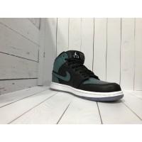 Кроссовки Nike Air Jordan черно-зеленые