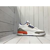 Кроссовки Nike Air Jordan бело-красные с коричневым