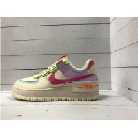Кроссовки Nike Air Force бежево-сиреневые с розовым