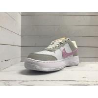 Кроссовки Nike Air Force серо-белые с розовым
