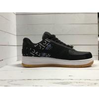Кроссовки Nike Air Force с принтом черно-белые