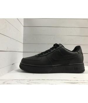 Кроссовки Nike Air Force однотонные кожаные черные