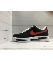 Кроссовки Nike Air Force бело-черные с красным