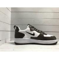 Кроссовки Nike Air Force коричнево-белые