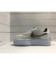 Кроссовки Nike Air Force серо-бежевые