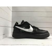 Кроссовки Nike Air Force кожаные черно-белые