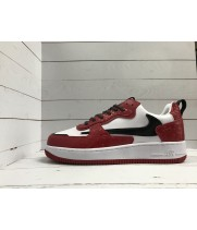 Кроссовки Nike Air Force бело-красные