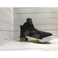 Кроссовки Nike Air Jordan джинсовые черные