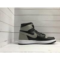 Кроссовки Nike Air Jordan черно-серые высокие